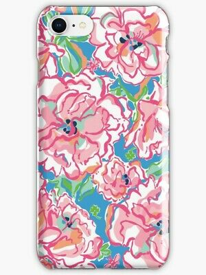 reputable site 90bf5 b111a VERA BRADLEY FLORAL Pink Pattern iPhone X 5 SE 6S 6Plus 7 8 S Plus,  Case/Cover