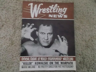 WRESTLING  NEWS MAGAZINE Vol 2 No 11 1967