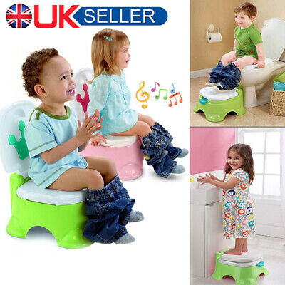 Baby Kids Children Toddler Potty Toilet Training Trainer Musical 3 in 1 Seat New