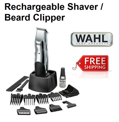 WAHL Electric Cordless Beard Stubble Mustache Shaver Trimmer Rechargeable Mens