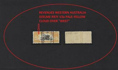 "WESTERN AUSTRALIA REVENUE 6d PALE-YELLOW VARIETY CLOUD OVER ""WEST"" DZEL R97F V2a"