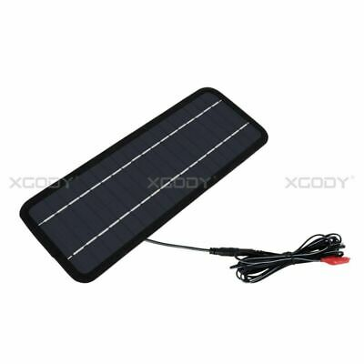 12V Portable Solar Charger 4.5W Panel Power for Motorcycle Boat Car Outdoor