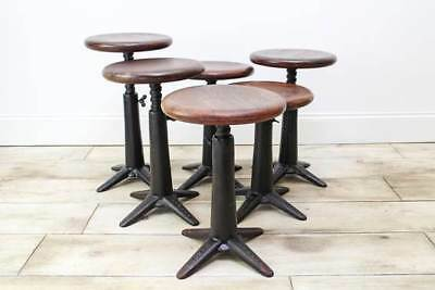 Vintage Singer Machinists Stool - Simanco Wing Nut Replacement - Factory Chair