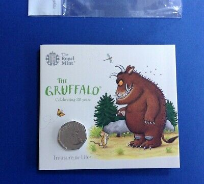 2019 The Gruffalo 50p Coin Brilliant Uncirculated By Royal Mint Pack Sealed