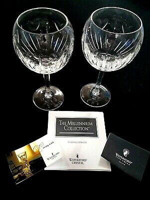 WATERFORD CRYSTAL The Millennium Collection Toasting Goblets (Set of 2) NIB