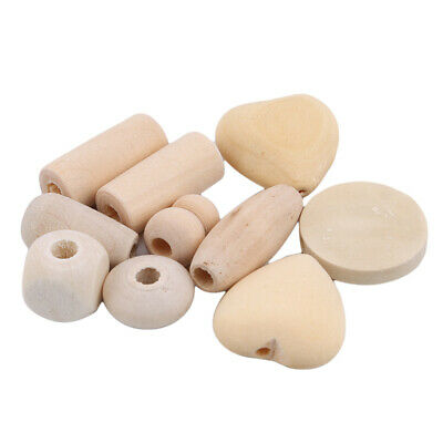 Wood Heart Pattern Bead Case DIY Child Teether Teether Necklace Kit Storage N7
