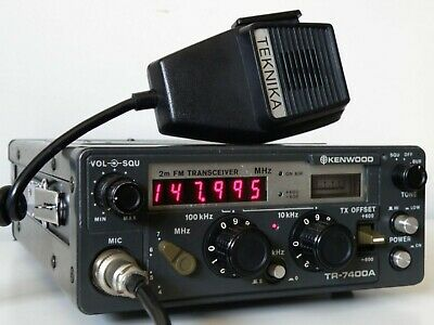 1977 Kenwood Japan Tr-7400A 2M Ham Radio Transceiver +Teknika Mic, Works Perfect