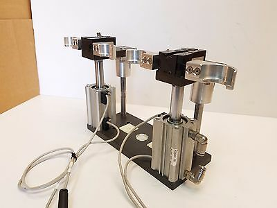 Lot of 2 PHD Pneumatic Parallel Gripper GRB11-2-12 x 180 W/SMC Air Cylinders