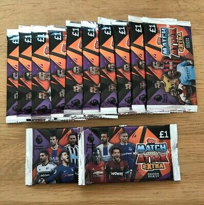 Topps Match Attax Extra Trading Cards (18/19 Premier League) - 12 Sealed Packets