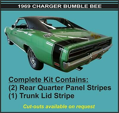 """1969 Dodge Charger Bumble Bee  """"3M Complete"""" Stripe Kit"""