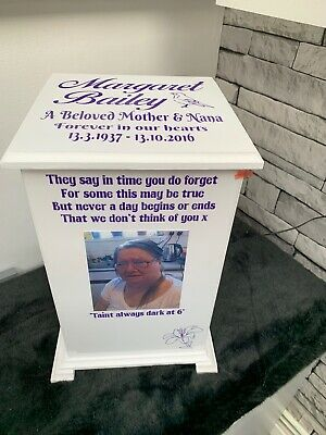 Ashes Casket Memorial Urn Personalised Memory Box LTC2