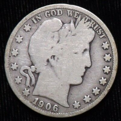 1906 S Barber Half Dollar  Good+