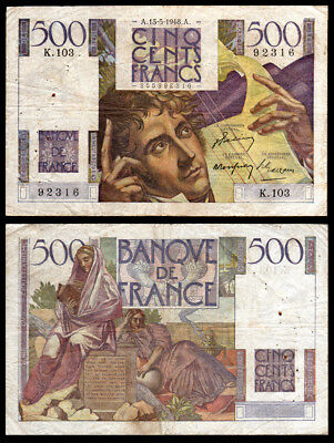 Billet France - 500F Chateaubriand - 13.05.48 - K 103 - B+ - Fay : 34.8