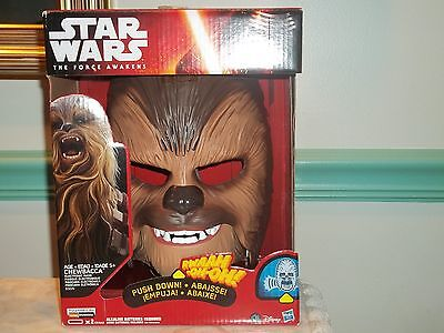 Star Wars Hasbro The Force Awakens Chewbacca Electronic Mask NEW /SEALED
