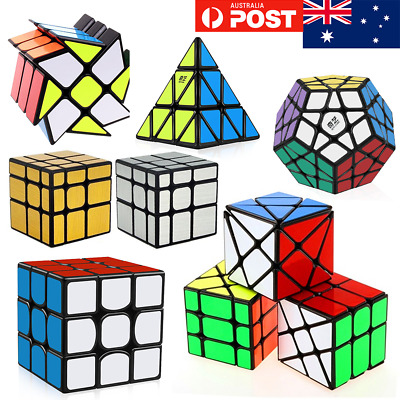 AUS STOCK Magic Cube 3x3 2x2 Super Smooth Fast Speed Rubik Puzzle Rubics Rubix