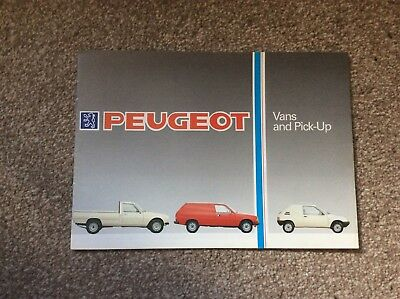 1986 Peugeot commercial vehicles brochure