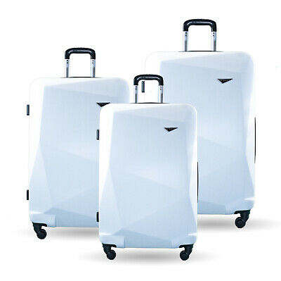 NEW SUIT CASE LIGHT TRAVEL BAG LUGGAGE SET 3pcs HARD SHELL TSA COMBINATION LOCKS