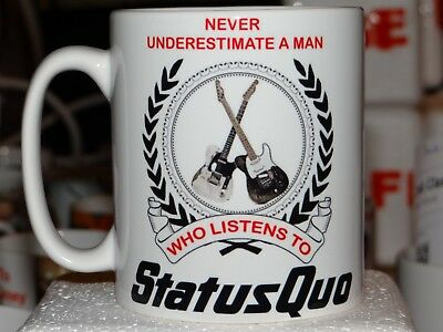 Personalised Status Quo Tea Coffee Mug - Your Name added Free