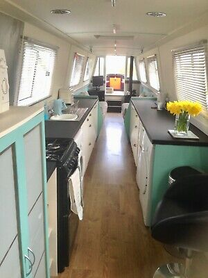 70 foot narrowboat live aboard or holiday light modern airy canalboat houseboat