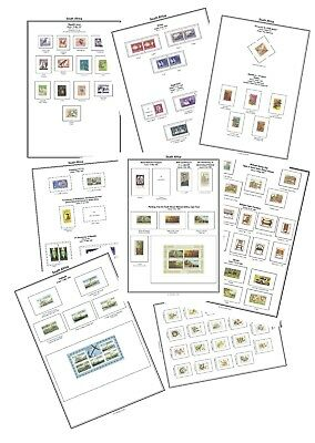 Print your own South Africa Stamp Album, fully illustrated and annotated