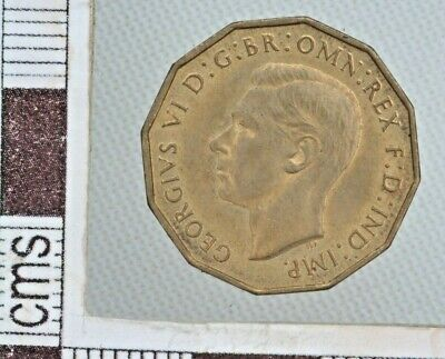 Great Britain 1937 GEORGE VI BRASS THREEPENCE IN A  HIGH GRADE WITH LUSTRE