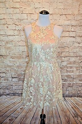 6d57df86 MODCLOTH WINDFLOWER WALTZ Rosewater sequin Dress NWOT L taupe beige party -  $36.94 | PicClick