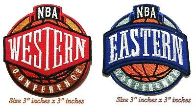 Western & Eastern NBA Conference  Sport Embroidered Patch on iron and sewing on