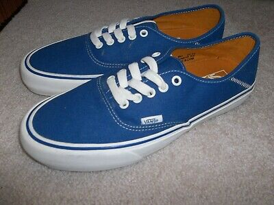 8bb5b5c28c VANS AUTHENTIC WASHED Herringbone Lace Up Blue Trainers Plimsoll ...