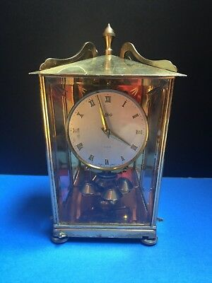 Antique Schatz ( # 53 ) Carriage 400 Day Anniversary clock