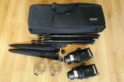 Bowens Gemini 400Rx 2 Head Lighting Kit Photography Equipment with Case