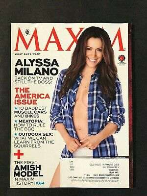 Maxim Magazine July/August 2013 Alyssa Milano