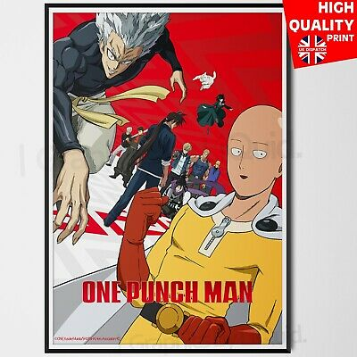 A4 A3 A2 A1 A0| One Man Punch Anime Poster Print T1178