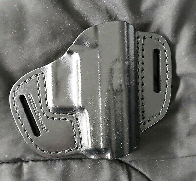 Black Leather Pancake Style Holster for Sig P225 (old) and P6 Pistols