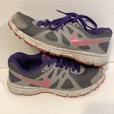 31e7965072e Nike Revolution-2 Athletic Youth Girl s Shoes Shoes Multi-Color Size 4Y  purple