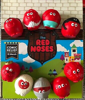 Red Nose Day 2019 Noses - Set of 9 noses - Comic Relief - With Boxes.