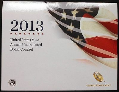 2013 United States Mint Annual Uncirculated Dollar Coin Set ~ Free Shipping