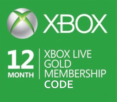 Microsoft Xbox Live Gold Membership Subscription Code Xbox One/Xbox 360 12 Month