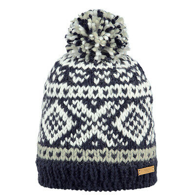 8f2a746ac3c BARTS NEW MEN S Beanie Navy Blue Log Cabin Snow Pom BNWT -  30.75 ...