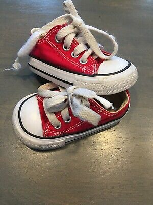 d5e7f5ed42db19 BABY BOYS RED Converse All Star Sneakers Size 3 -  14.50