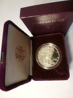 Beautiful 1986-S American Silver Eagle 1 Oz Proof Coin US Mint With Box & COA!