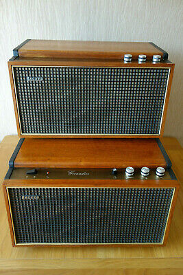Hacker GP45 Grenadier Record Player Teak With SA45 Amplifier - Both excellent !