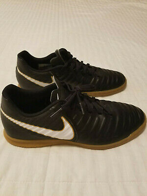 723093217 NIKE TIEMPO X Rio IV IC Indoor Soccer Shoes Black White Mens Size 7 ...