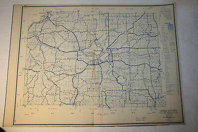 1953 Dane County - Vintage State Highway Commission of Wisconsin Map