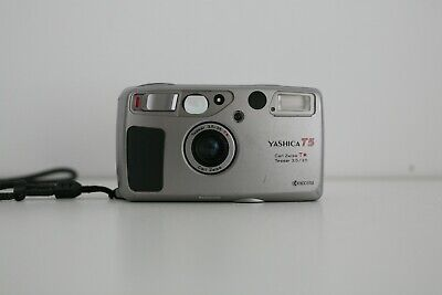 [Very Good]Yashica T5 Silver | Carl Zeiss Tessar T* 35mm 3.5 | Film tested T4 t3