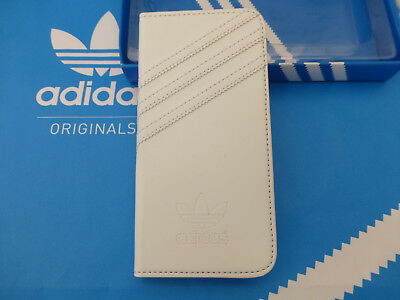 ADIDAS iPhone 6 Booklet Case White Leather Look i6 Flip Wallet Cover BNIP RPP£30