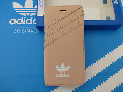ADIDAS iPhone 6/6s Booklet Case Soft Peach i6 & 6s Flip Wallet Cover BNIP R£30