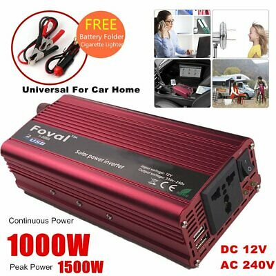 6000w Max 3000w Dc 12v To Ac 240v Car Home Power Inverter Charger Converter V@ Photovoltaik-zubehör