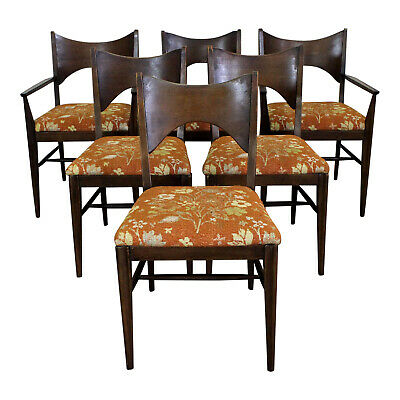 Set of 6 Mid-Century Danish Modern Paul McCobb Style Broyhill Dining Chairs