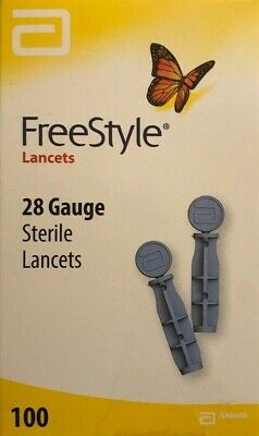 Freestyle 28 Gauge Diabetic Lancets 1 Box of 100 Exp. 1/2022+ SHIPS FREE TODAY