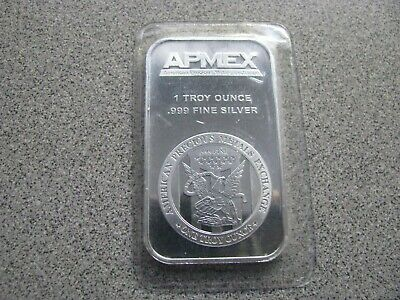 SEALED One Ounce .999 Fine Silver ApMex Bar